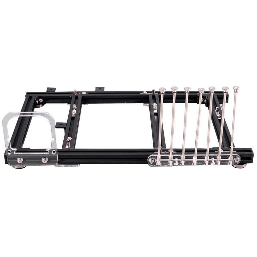 Diy quadro aberto liga de alumínio computador computador caso overclocking plataforma teste para atx/M-ATX/itx placa-mãe