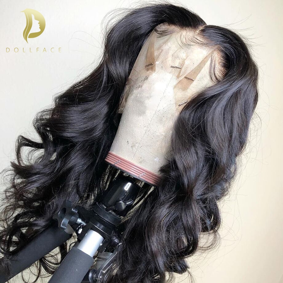 Glueless Lace Front Human Hair Wigs Body Wave Fake Scalp Wig Pre Plucked Brazilian Remy Hair For Women 130 Density 13x6