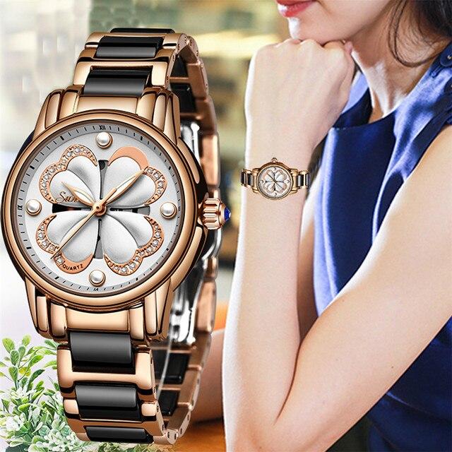 2019 Nieuwe Sunkta Top Merk Luxe Waterdichte Vrouwen Horloges Mode Eenvoudige Keramische Quartz Horloge Vrouwen Jurk Klok Relogio Feminino