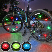 Mini Bicycle led Light with Battery Tyre Valve Caps Wheel Spokes Led Light Bike Lights Mountain Road Bike Bicycle Running Lights cheap
