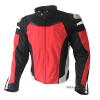 Dain Mesh Jackets Motorcycle MX Dirt Bike Off road Motorbike Black Red Jacket With Protector