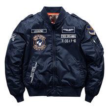 Streetwear japonês hip hop velo jaqueta masculina solto vôo exército ma-1 piloto jaqueta masculina grosso casaco parka 6xl