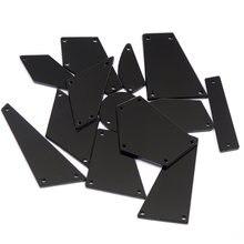 Черный 30 шт Стразы с плоской задней поверхностью аксессуары