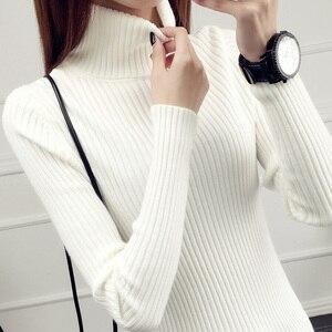 Image 2 - Camisola de camisola completa real novo estilo outono e inverno 2020 jaqueta de estilo curto com colo interno mais grosso de manga comprida de malha inferior