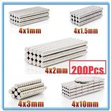 цена 200Pcs Mini Small N35 Round Magnet 4x1 4x1.5 4x2 4x3 4x10 mm Neodymium Magnet Permanent NdFeB Super Strong Powerful Magnets 4*2 онлайн в 2017 году