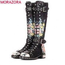 MORAZORA 2020 autumn winter fashion classic genuine leather