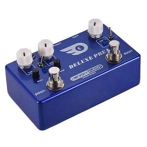 Mosky deluxe preamp efeito guitarra pedal 2 em 1 impulso clássico overdrive efeitos escudo de metal com true bypass guitarra acessórios