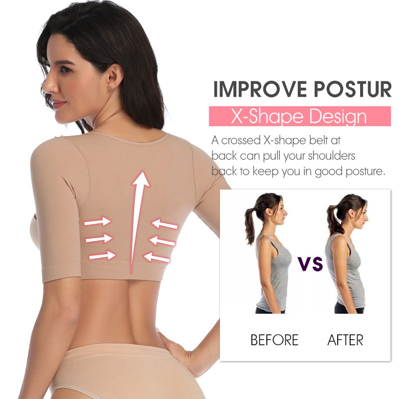 Women Arm Shaper Back Shoulder Corrector Shaper Humpback Posture Corrector Arm Control Shapewear Slimming Underwear