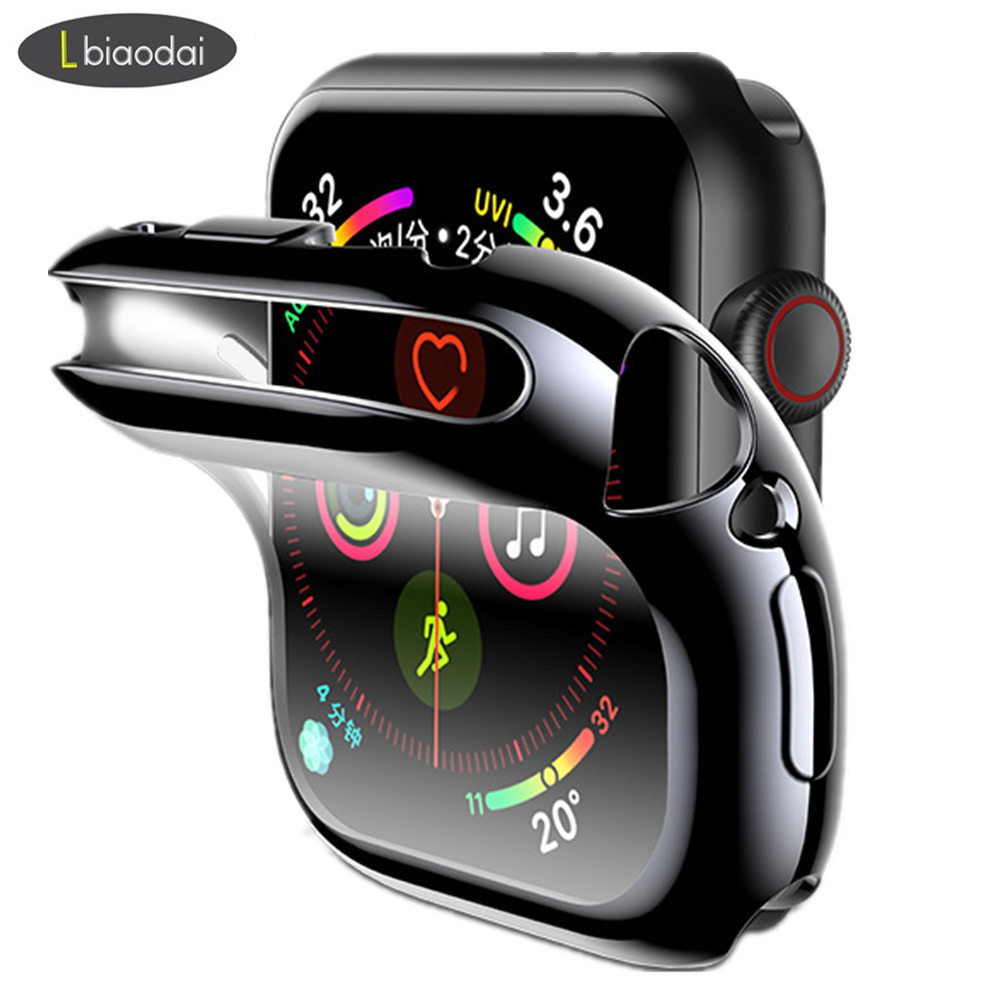 Cover Case For Apple Watch Band 44mm/40mm Iwatch 5 4 3 2 42mm/38mm Screen Protector Silicone Protective Bumper