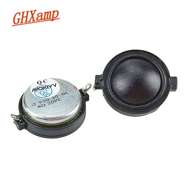GHXAMP 1 นิ้ว Neodymium ทวีตเตอร์ผ้าไหมฟิล์ม CLEAR Smooth ลำโพง TREBLE มัลติมีเดียรถลำโพง 8ohm 20W 2PCS