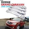 หรูหรา Chrome Trim สำหรับ Dodge Grand Caravan MK5 2008 ~ 2020 อุปกรณ์เสริมสติ๊กเกอร์รถ 2009 2010 2011 2012 2013