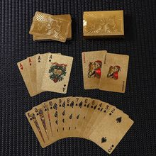 Waterdichte Poker Set Dek Goudfolie Speelkaarten Bordspel Ic Kaarten Gift(China)