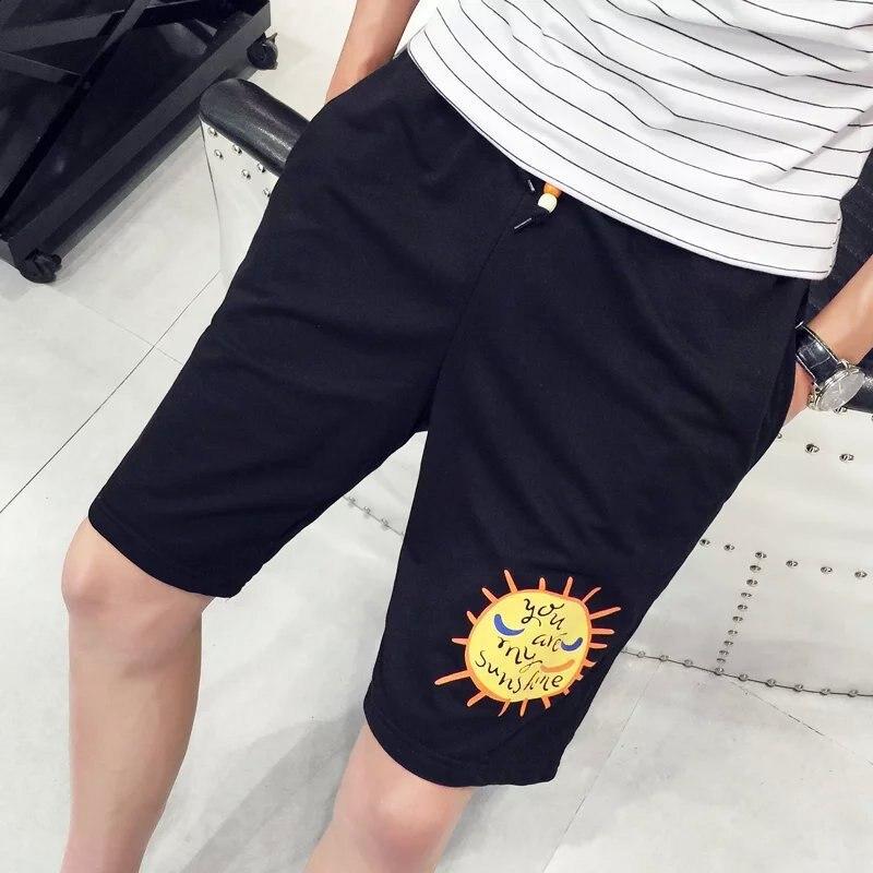 2018 Summer Men Casual Short Shorts Men's Outdoor Sports Basketball Shorts Pure Cotton Large Fork Pants