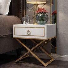 Белый черный Современный Железный литой золотой тумбочка кофе диван конец прикроватный столик мебель для дома постельный шкаф спальня