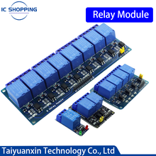 1PCS Relay Module Optocoupler Relay Arduino 5V 12V 24V Relay Output 1 2 4 6 8 Channel Relay Module Trigger Board Shield