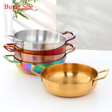 Stainless Steel Cooking Pot Without Lid 2 Sizes Hot Pot Single-Layer Soup Noodle Sea Food Pots Home tools Kitchen Utensils