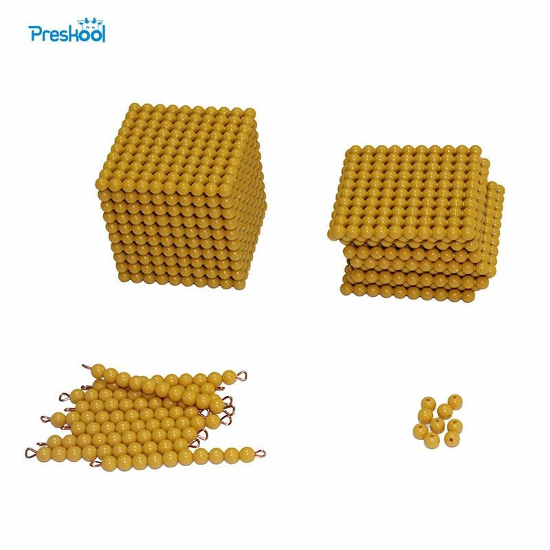 Montessori Mathematics Instrument Montessori Decimal System Game Children Decimal Small Bank Game Toys