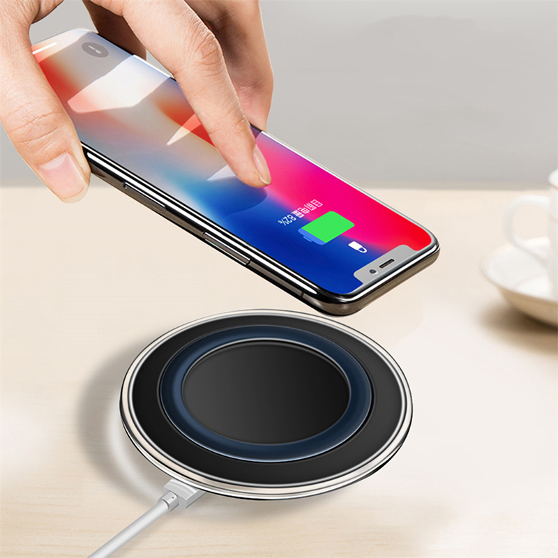 Wireless Charger For IPhone 6 6S 7 8 Plus 11 X Xs Xr Qi Fast Wireless Charging Pad For Samsung S10 Note 9 AirPods Xiaomi Charger