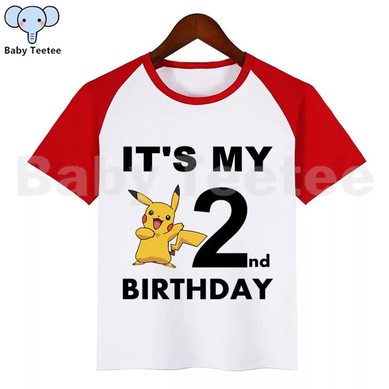 Pikachu Pokemon Boys Girls Kids 3D Printing T-shirt Short Sleeve Party Costumes