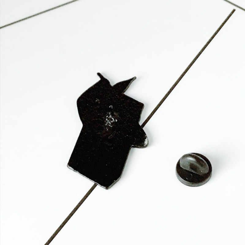 Black White Men Matches Brooch for Women Creative Retro Denim Wear Jackets Bag Badge Enamel Pin Brooches Kids Jewelry Boys Gift