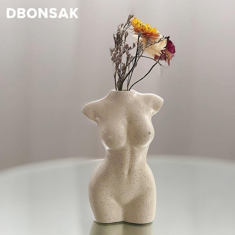 Body Art Design Flower Vase Nude Female Sculpture Flower Vase Creative Hobby Vase Planting Machine Home Accessories Ornamental Aliexpress