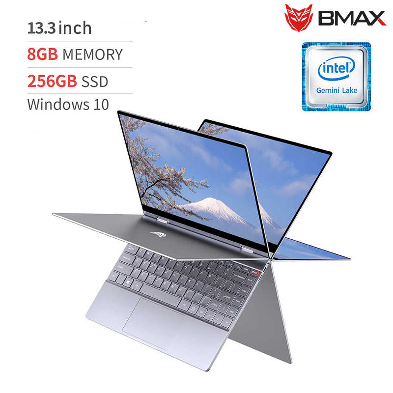 BMAX Y13 מחשב נייד 13.3 אינץ Quad Core Intel N4120 1920*1080 IPS מסך 8GB LPDDR4 RAM 256GB SSD מחברת windows10