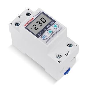 Image 3 - 63A 220 24v din レール可変電圧プロテクターリレー電流制限保護と電力計 kwh 電力量計消費電力
