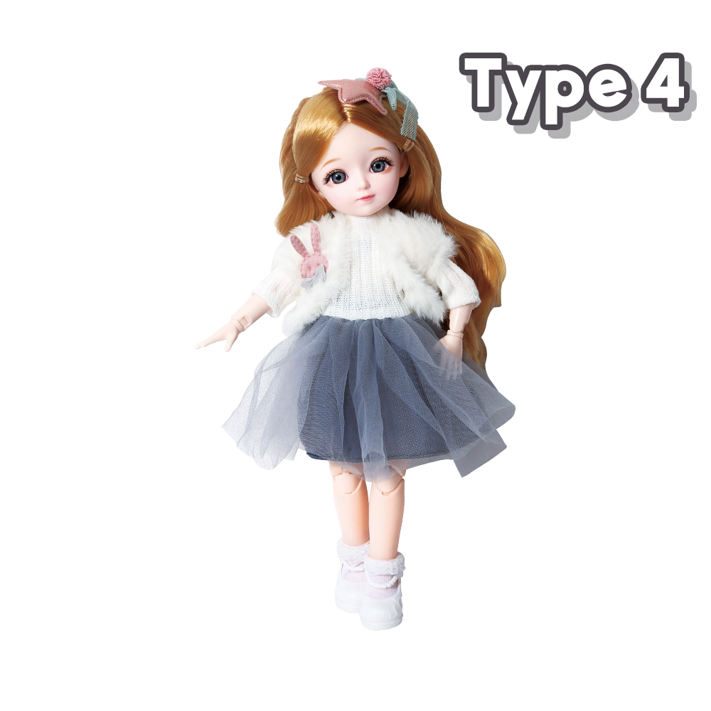 New 1/6 12 Inch 31cm Bjd Doll 23 Joints Long Wig Plastic Toys Musical Doll Girls Children's Favorite Fashion Birthday Presents 10