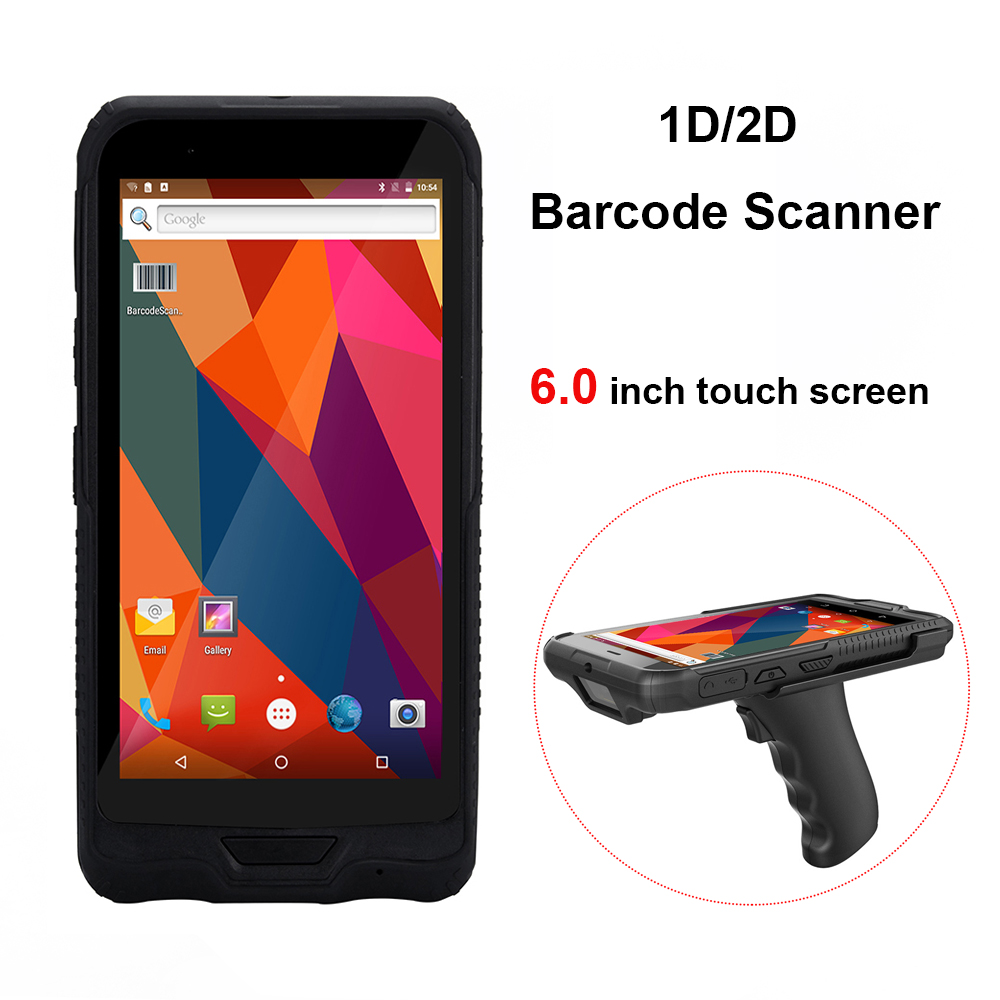 6.0 inch 1D/2D QR Barcode Scanner NFC WIFI PDA Android 5.1 OS Wireless Portable Bar Code Reader Handheld tablet Terminal image