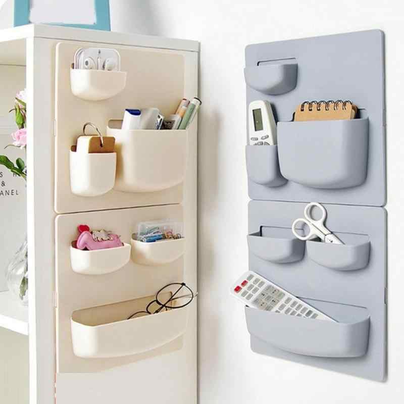 Kendinden yapışkanlı mutfak buzdolabı İskandinav plastik buzdolabı depolama raf organizatör temizleme sünger sebze meyve mutfak gereçleri