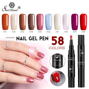 Saviland Newest 58 Colors Gel Nail Varnish Pen Glitter Nail Gel Polish Hybrid Dawdler UV Nail Art Gel Lacquer Gel Paint(China)