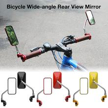 купить Cycling Road Bike Rear View Mirror Adjustable Motorcycles Bicycle Handlebar Flexible Safety Rearview Mirror Wide-angle Rearview по цене 581.62 рублей