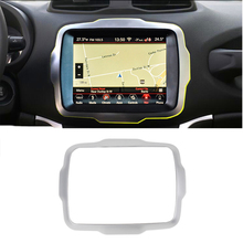 8.4 Inch GPS Navigation Trim Cover Orange/Red/Carbon Fiber/Silver for Jeep Renegade 2018+ Car Interior Accessories Stickers