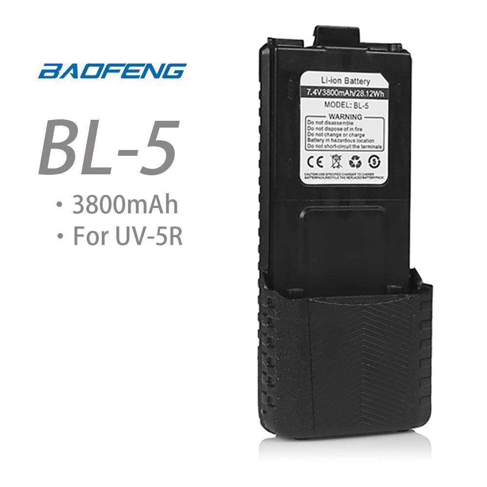7.4V 3800mah Baofeng Li-ion Battery For UV-5R DM-5R TP F8+ UV-5R Uv 5r Plus Walkie Talkie Two Way Ham Radio Original Accessories