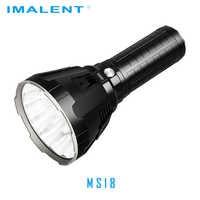 IMALENT MS18 linterna LED CREE XHP70.2 luz de Flash de recarga impermeable con batería 21700 + pantalla OLED Carga inteligente