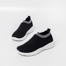 Women Sneakers Slip-on Shoes Stretch Fabric Fashion Flats Woman Soft Breathable Casual Shoes Plus Size Ladies Loafers Promotion cootelili women sneakers platform casual shoes woman flats slip on letter loafers ladies black gray blue red plus size 40 41 42