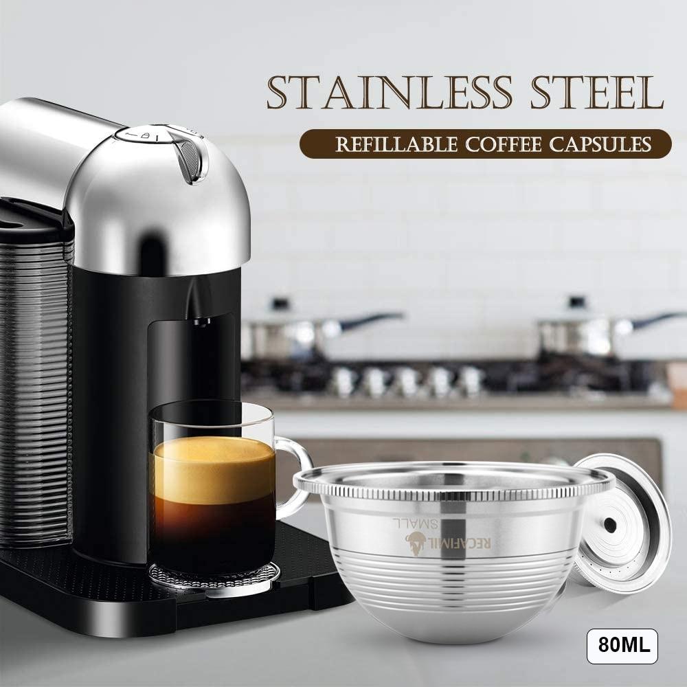 ICafilas Stianless Steel многоразовая SmallCUP для Nespresso Vertuo кофе капсульный фильтр эспрессо Vertuoline для VertuoPlusLine