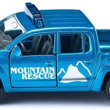 Bergrettung Pick-Up, Metall/Kunststoff, Blau, ffenbare Tren, Bereifung aus Gummi