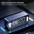 MC-H8 Беспроводной Bluetooth Динамик стерео бас ночной Светильник Многофункциональный цифровые электронные часы Температура Дисплей FM радио