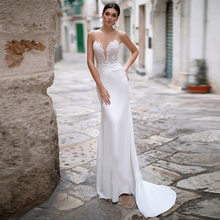 Verngo Mermaid Wedding Dress Lace Appliques Gowns Detachable Train Elegant Bride Vestidos De Noiva
