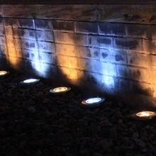 4 шт водонепроницаемые светодиодные подземсветильник фонари