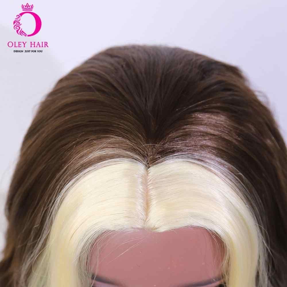 Специальное предложение OLEY Hair, парик блонд брвон с полной обработкой, термостойкий синтетический парик без шнуровки, парики для косплея для черных женщин