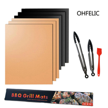 BBQ Grill Mat Barbecue outdoor PTFE non-stick BBQ accessories Teflon Cooking Plate 40 * 30cm For Party PTFE Grill Mat Tools New 1pc new ptfe teflon made iron plate cover shoe 230 170mm l230 w170 t1 0 mm xl