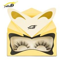 YALIAO Mink Hair False Eyelash Eye Lash Extension Makeup Tool Thick Natural Long Fake Reusable Cosmetic Accessory 1pair