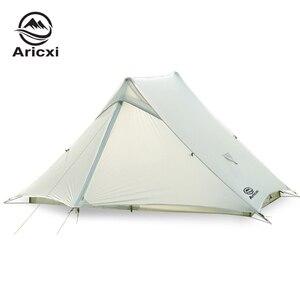 Aricxi светильник 2 Наружный ультра светильник палатка для кемпинга 2 человека Профессиональный 15D Silnylon Бесшумная палатка