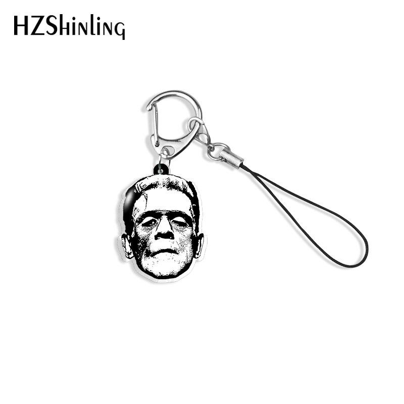 2020 новый милый брелок Frankenstein Хэллоуин акриловый брелок ручной работы смолы эпоксидные украшения сумка держатель аксессуаров