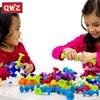 QWZ-blocs de Construction souples pour enfants, bricolage, Pop, ventouse de Squigz, jouets de Construction amusants, blocs de Silicone, cadeaux créatifs pour enfant garçon
