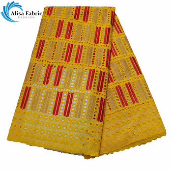 Alisa Hot Selling African Dry Lace Fabric Nigerian Lace Fabrics 2019 High Quality Swiss Voile In Switzerland For Sewing Clothes