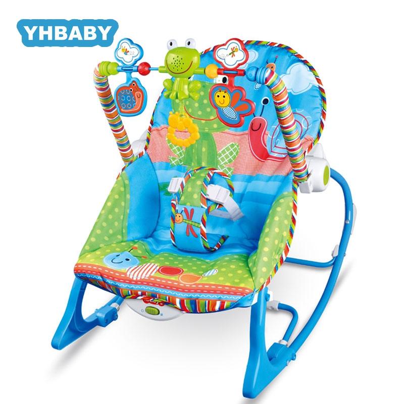 Baby Electric Cradle Swing For Newborn Rocking Chair With Light Music Player Multi-function Baby Rocking Chair Baby Bouncer