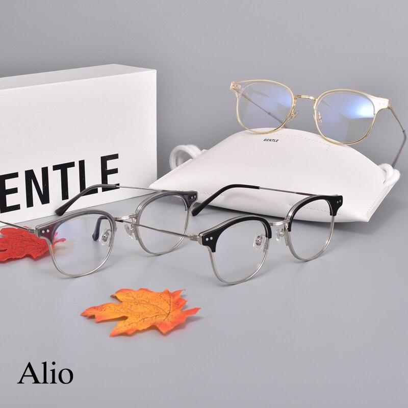 Korean brand Eyeglasses frames women men GENTLE Alio Women Men Eyewear Frames For Reading glasses Myopia Prescription lens